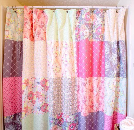 Fat Quarter Patchwork Shower Curtain  FaveQuiltscom