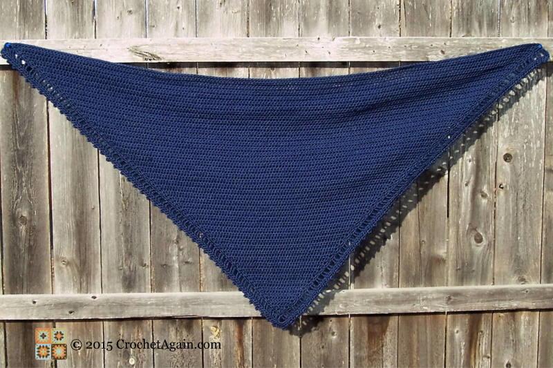 A Simple Crochet Shawl  AllFreeCrochetcom