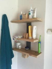 Precious Pallet Wood DIY Bathroom Shelves | DIYIdeaCenter.com