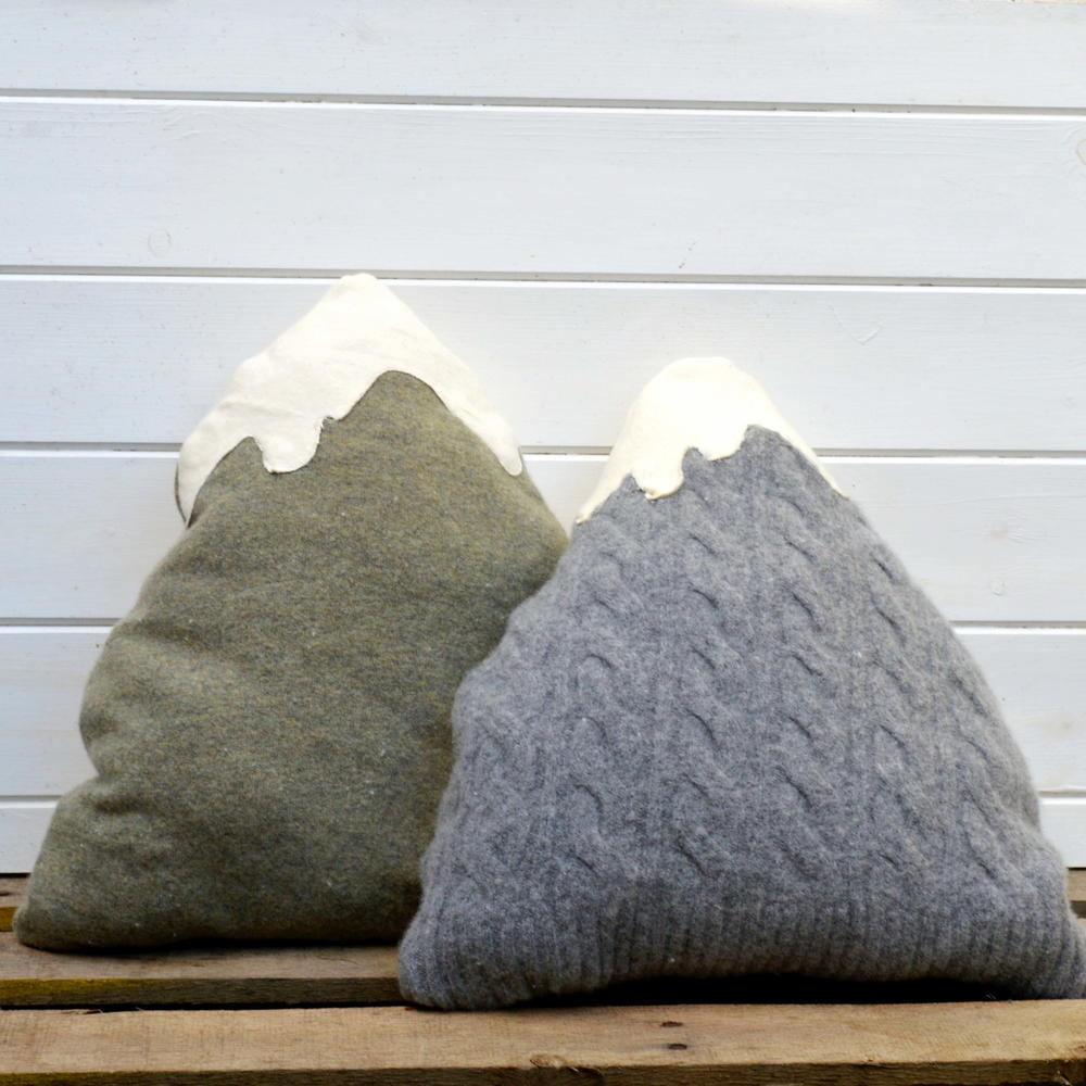 Upcycled Sweater Mountain Pillows  FaveCraftscom