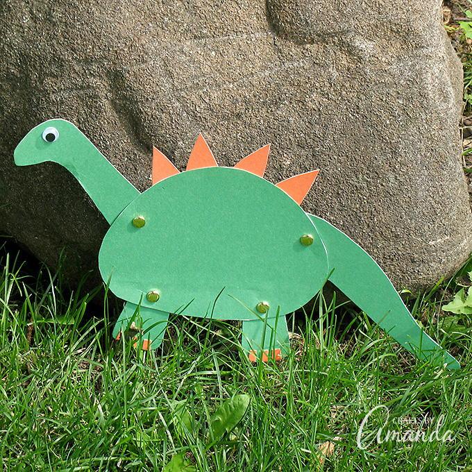 Construction Paper Dinosaur Craft  AllFreePaperCraftscom