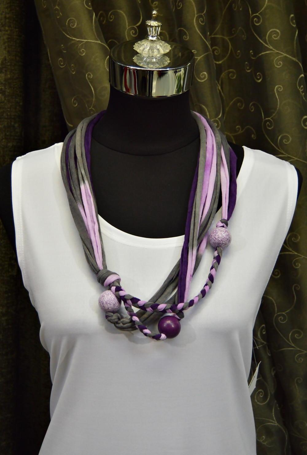 Royal Purple TShirt Yarn Necklace  FaveCraftscom