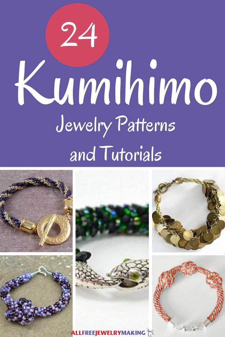 24 Kumihimo Jewelry Patterns And Tutorials