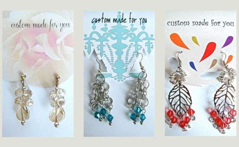 Printable Earring Display Cards