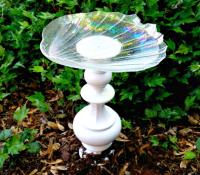 Lamp DIY Bird Bath | DIYIdeaCenter.com