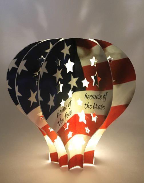 July 4th Hot Air Balloon Light  FaveCraftscom