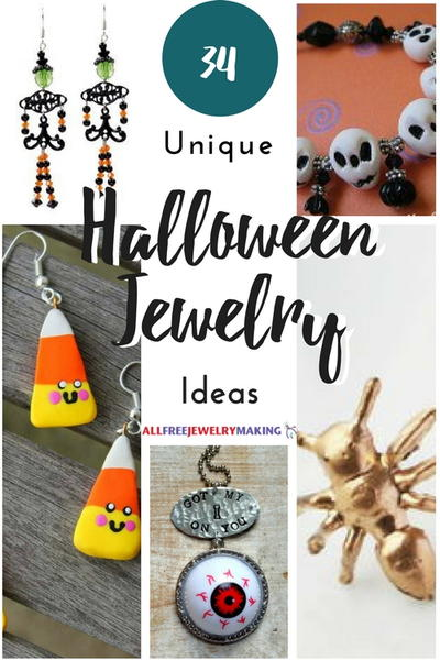 Halloween Jewelry : halloween, jewelry, Unique, Halloween, Jewelry, Ideas, AllFreeJewelryMaking.com