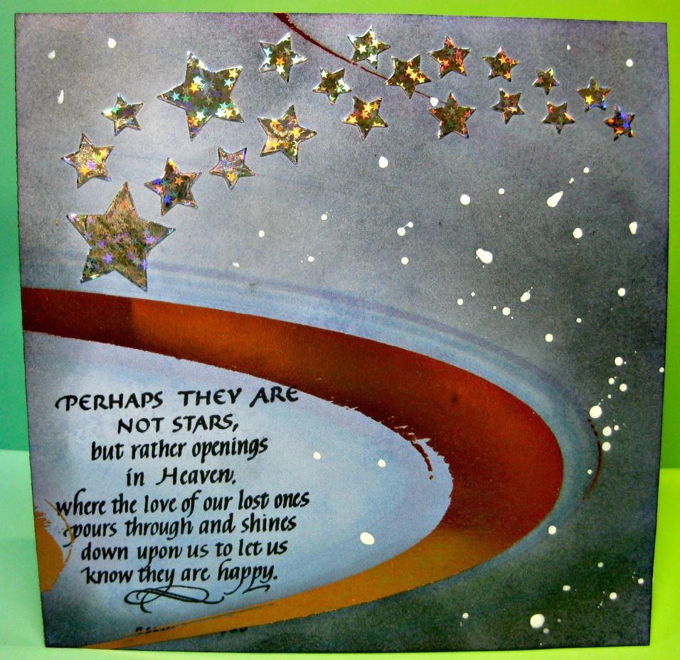 Galaxy Stars Diy Sympathy Card Allfreepapercrafts Com