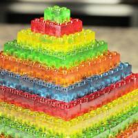 Stackable Gummy Lego Jell-O Candy Pyramid   RecipeLion.com