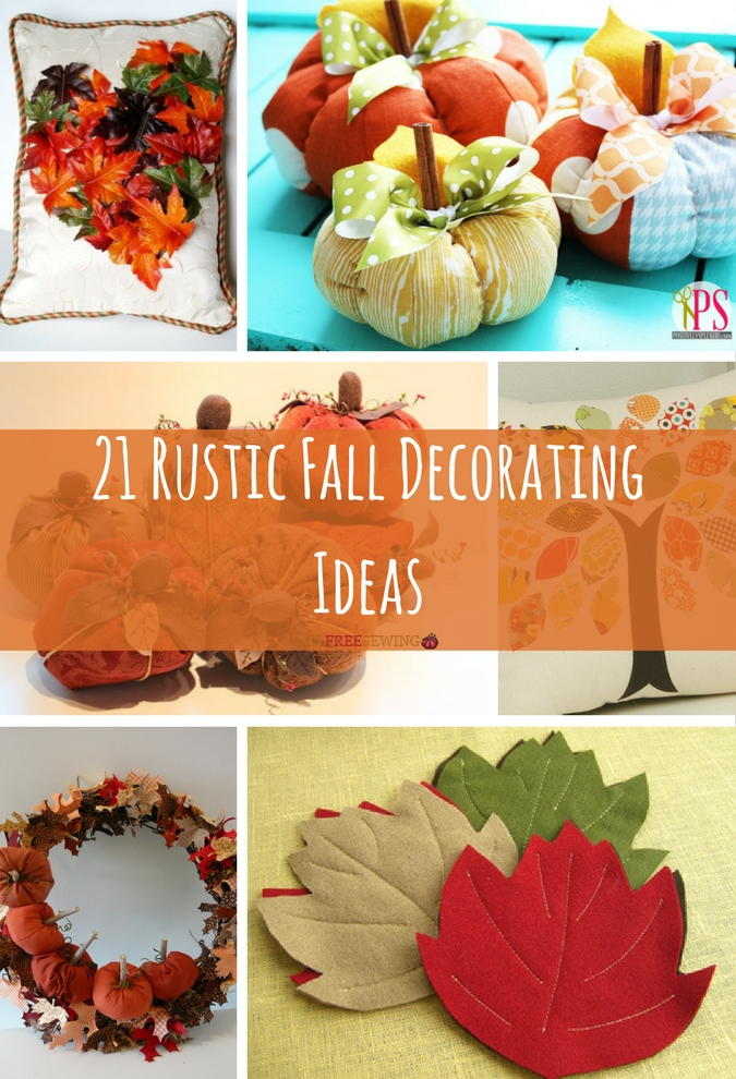 21 Rustic Fall Decorating Ideas  AllFreeSewingcom