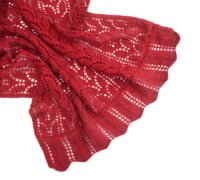 Red Lace Shawl | AllFreeKnitting.com