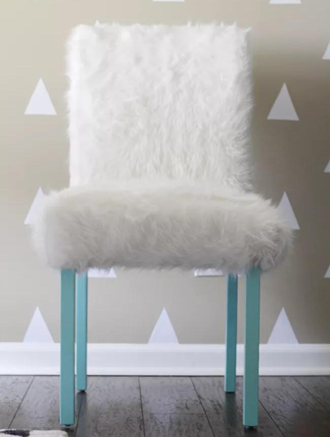 desk chair diy ab rocker faux fur office diyideacenter com