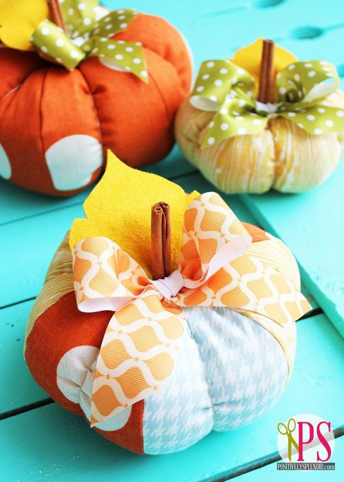 Plush Patchwork Pumpkins  AllFreeSewingcom
