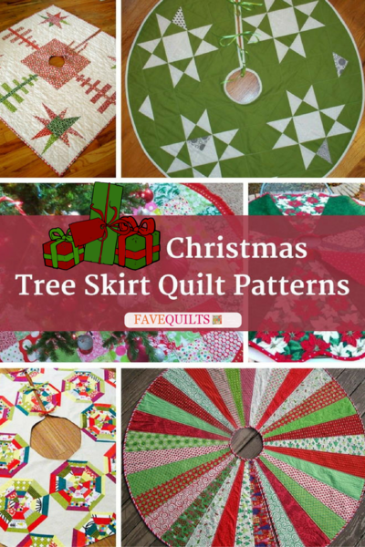 13 Christmas Tree Skirt Quilt Patterns