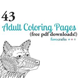43 Printable Adult Coloring Pages PDF Downloads FaveCrafts com