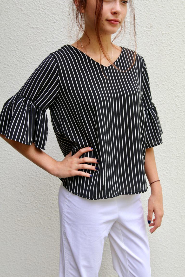 Belle Sleeve Top Free Sewing Pattern and Tutorial  FaveCraftscom