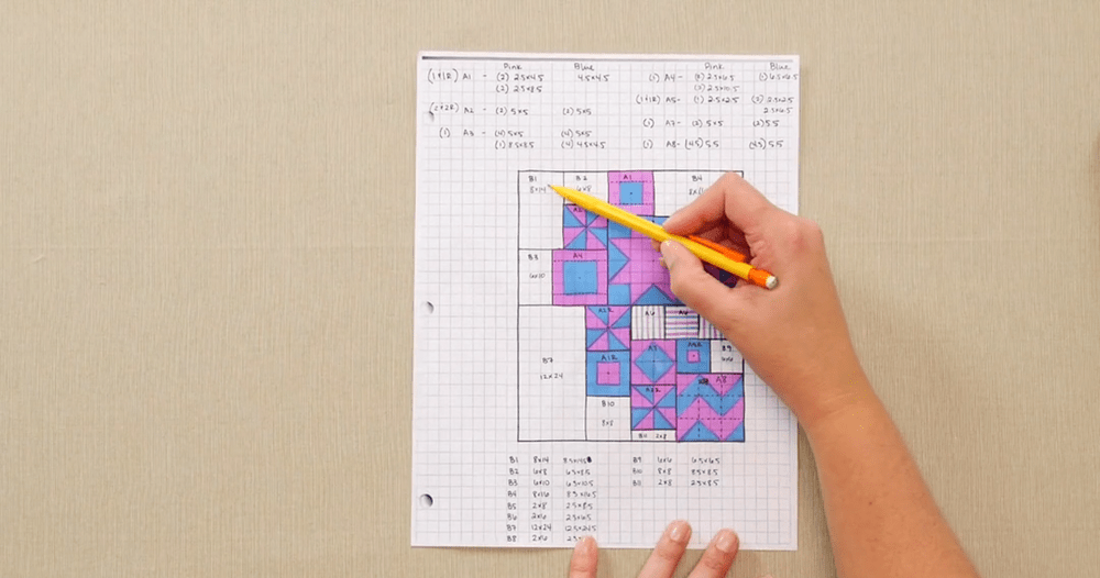 How to Design a Quilt on Graph Paper Video  FaveQuiltscom