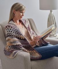 Wrapture Free Crochet Shawl Pattern | FaveCrafts.com