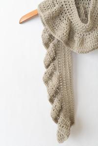 Crocheted Ruffle Scarf | AllFreeCrochet.com