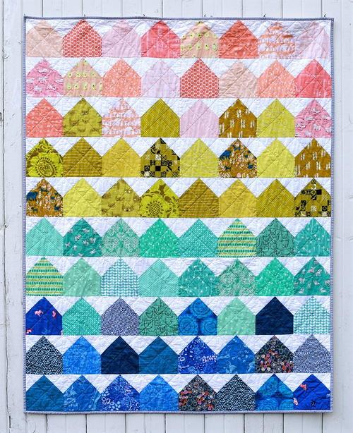 House Quilts : house, quilts, Summer, House, Quilt, Pattern, FaveQuilts.com