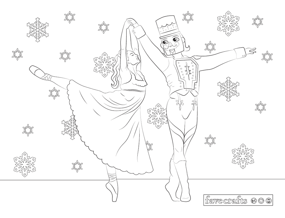 Nutcracker Ballet Coloring Page Favecrafts Com