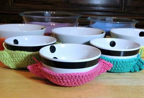 one hour crochet bowl cozy