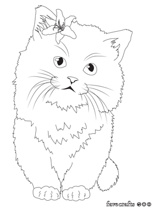 Cute Kitten Coloring Page Favecrafts Com