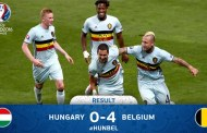 Belgia spulberă Ungaria şi atinge sferturile de finală la EURO 2016