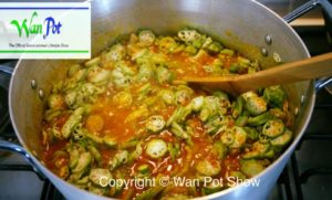 fufu and okra soup15