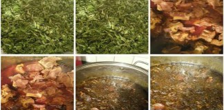 How to cook Palm Oil Krain Krain with turkey chicken, barracuda fish and goat meat