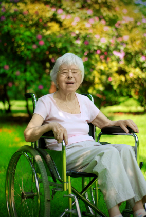 M2L3_Adult Overview_elderly woman in wheelchair