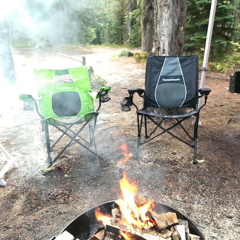 strong back chairs small rocking strongback elite and core folding camp ireviewgear com