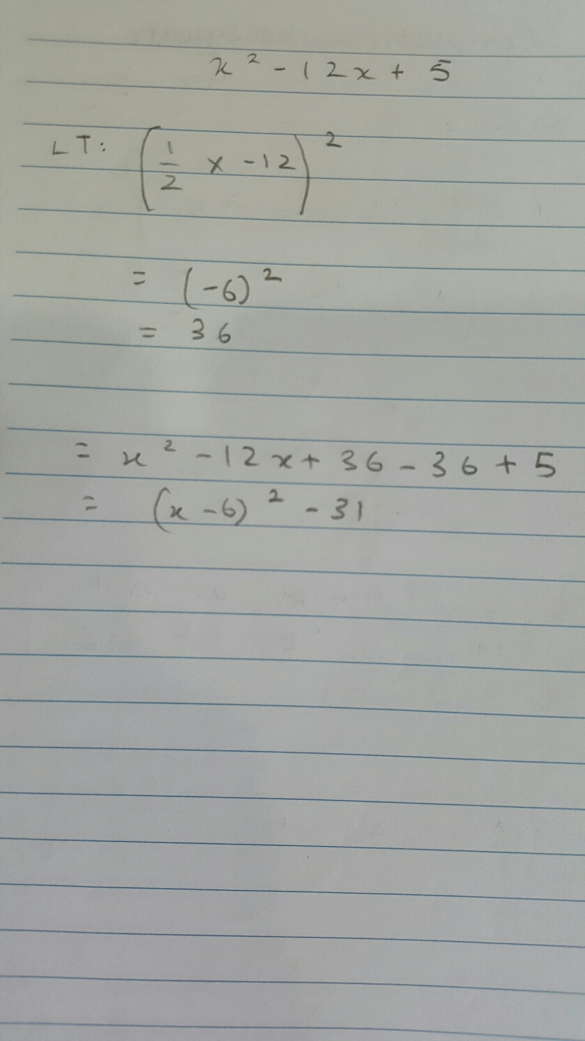 Notes for Extended Maths