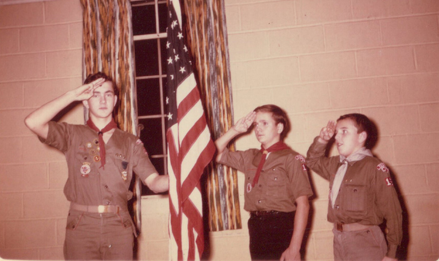 boy scouts soluting