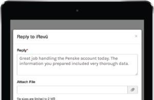 feedback example screenshot