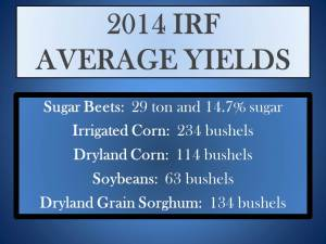 2014 Average Yields