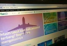 Tampilan blog irfan.id