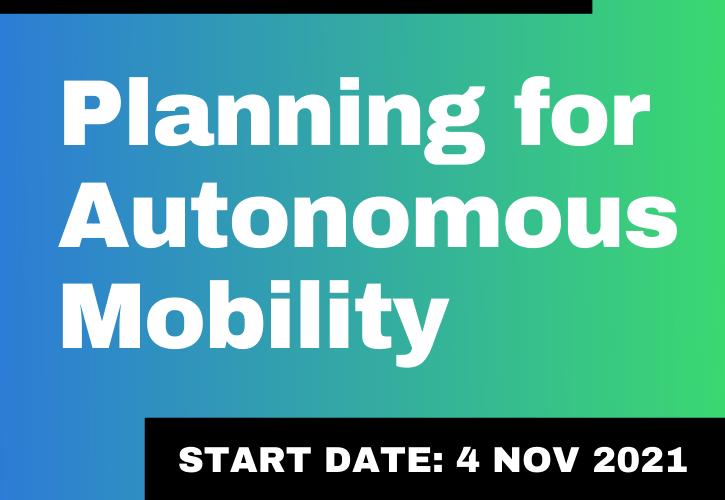 Training – Planning for Autonomous Mobility