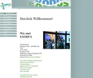 Screenshot exodusgemeinschaft.de 2013