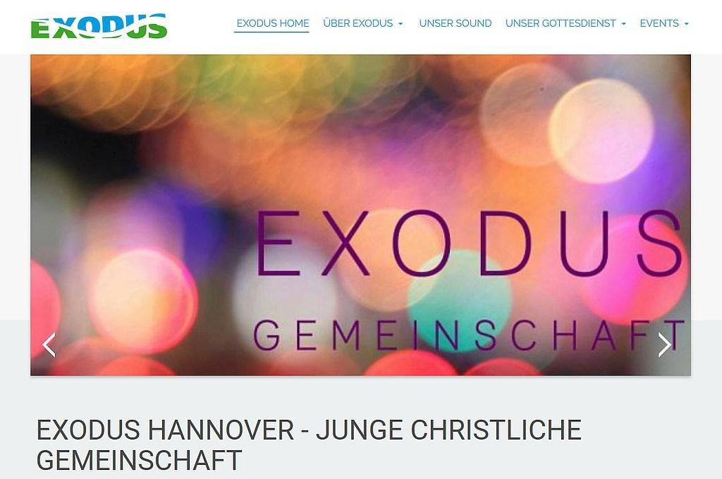 Bildschirmfoto exodusgemeinschaft.de