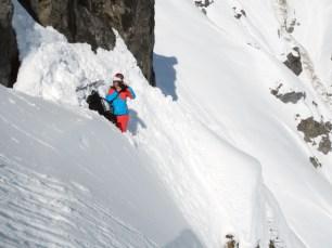 Photographer Iris Kammerhofer is also climbing like an chamois.