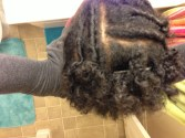 flat twists with bantu knot outs