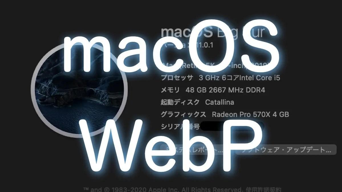 macOS BigSurでWebp