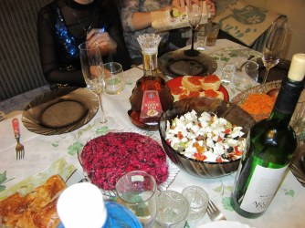 A Russian feast for New Year