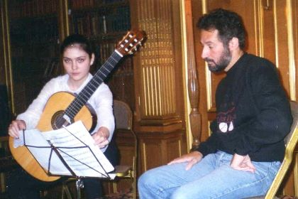 Irina Kulikova with Sergio Assad