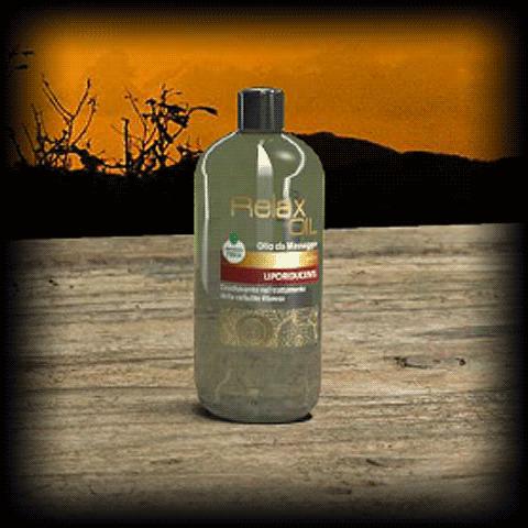 Relax OIL - Olio per massaggio GOLD - LIPORIDUCENTE
