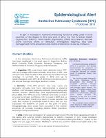 Hantavirus in the Americas: guidelines for prevention, diagnosis ...