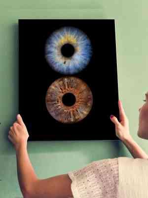 Iris kunstwerk paar