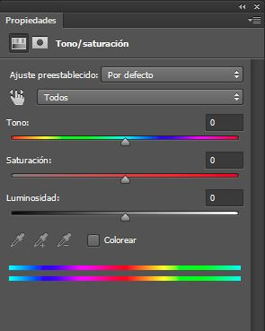 iris encina tono saturacion