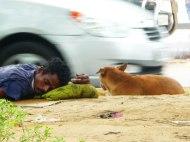 Straßenschläfer Delhi